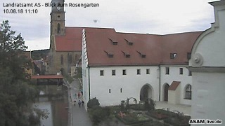 Externes Medium: Webcam | Blick vom Landratsamt in den Rosengarten